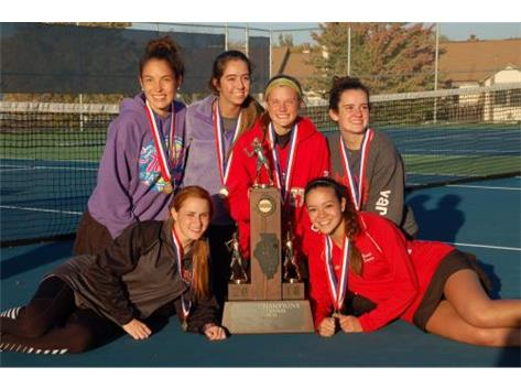 2016 Class 1A Girls Tennis State Champions: Front Row (L to R) Kate Pizza, Katie Telford