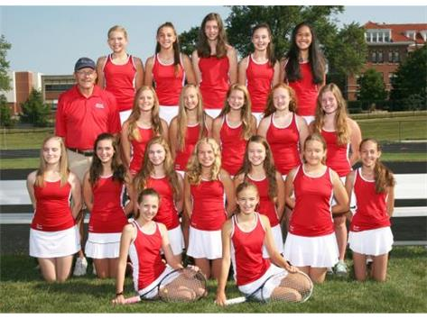 2017-2018 Girls JV2 Tennis Team