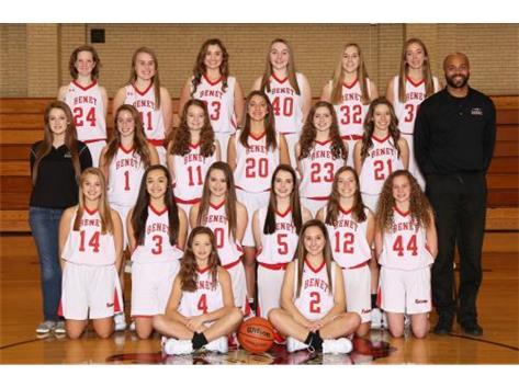 2017-2018 Freshmen Lady Redwings Basketball Team
