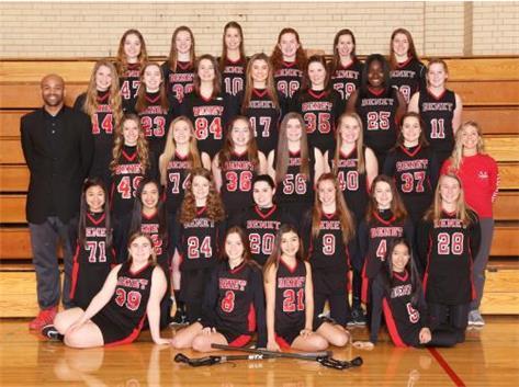 2018 Girls Junior Varsity Lacrosse Team
