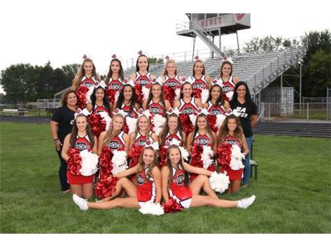2018-2019 Benet Football Cheerleaders