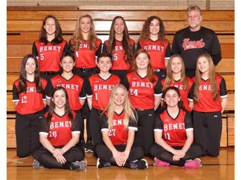 2019 Girls Junior Varsity Softball Team