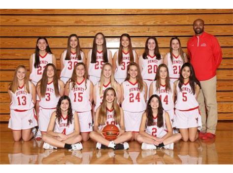 2019 - 2020 Girls Freshmen Basketball Team