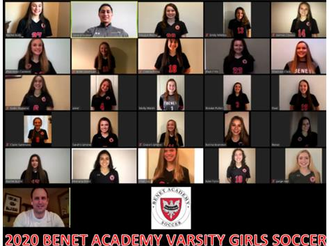 2020 Girls Varsity Soccer Team