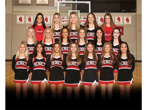 2021 Varsity Cheer Team STATE QUALIFIER!