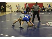 Nick Houston breaking down his opponent looking for a Pin