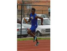 Marvin leads off the JV 4x400m relay