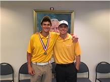 Congratulations to Evan Myers for 8th place medalist honors shooting 75-72 at IHSA State Golf at Fox Creek GC in Bloomington - and Michael Pelfresne - 64th pl. -83-76