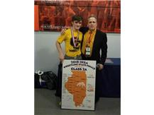 Riley Palm-State Champion Wrestling 138LBS.  Congratulations to Riley and Coach Kykendall!