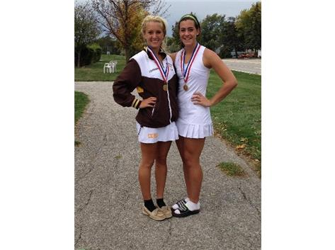 Kathleen Fellicelli & Michelle Kannenberg -2013 ESCC Champs - 3rd Team Doubles All-State