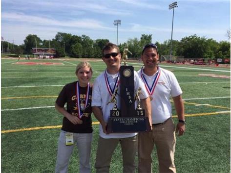 ESCC Coach of the Year John Halloran- Assistants Stephanie Swanson & Brendan Leetch
