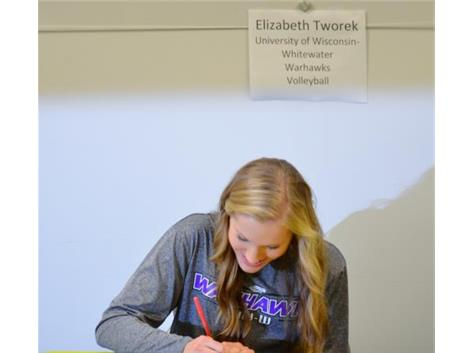 Elizabeth Tworek signs Letter-of-Intent to play Volleyball at the University of Wisconsin, Whitewater