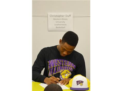 Christopher Duff signs Letter-of-Intent to play Basketball at Western Illinois