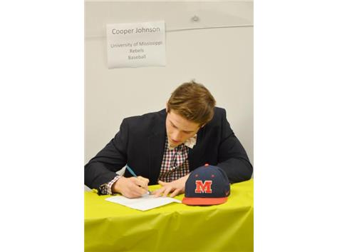 Cooper Joohnson signs Letter-of-Intent to play Baseball at the University of Mississippi