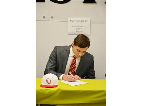 Mathew Collins signs Letter-of-Intent to play Baseball at Cornell University