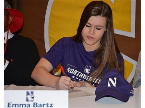 Emma Bartz signs Letter of Intent to play Softball at Northwestern