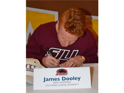 Jimmy Dooley signs Letter of Intent to Swim at Southern Illinois University