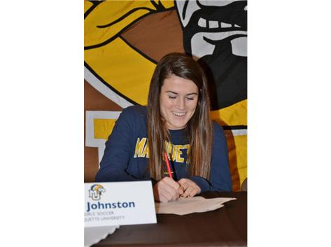 Erin Johnston signs Letter of Intent to play Soccer at Marquette