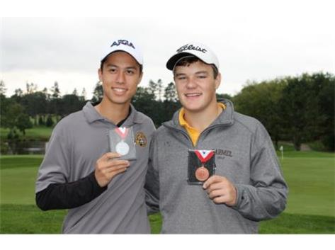 Tyler Anderson - Golf 1st Place Medalist & Jack Herron 2nd Place