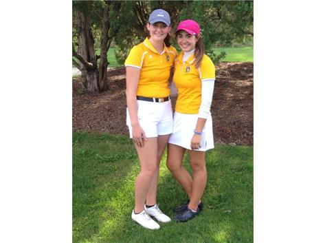Erin Kehoe (3rd) & Danielle Savovich (2nd) shot 86 & 85 for medalist honors at the IHSA Regional