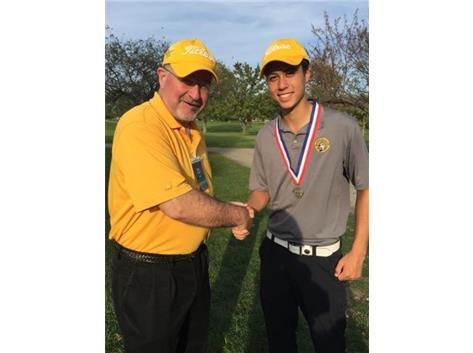 Tyler Anderson - 2nd place medalist honors at the IHSA 2A Golf State Tournament and Coach Nolan