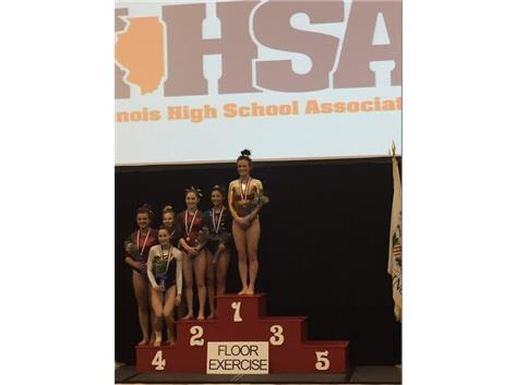 Congratulations to Sammi Lococo, Carmel's newest IHSA State Champion on Floor Exercise!