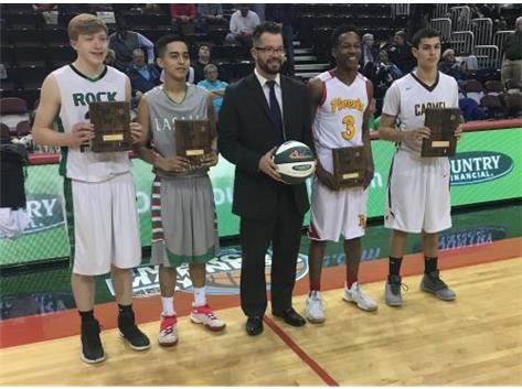 Evan Myers wins IHSA 3A 3-Point Shooting Contest - King of the Hill