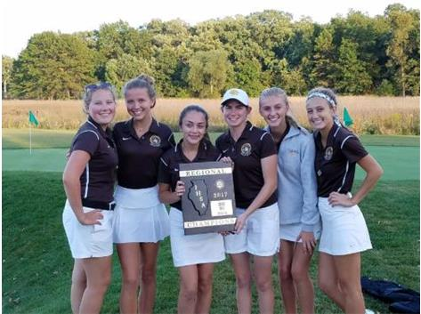 Congratulations to the Girls' Golf Team- 2017 IHSA Regional Champs &  Freshman Maria Stephens, Champion.