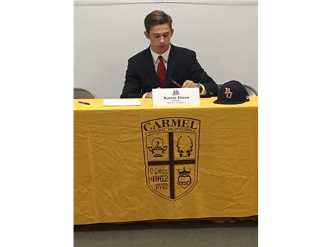 Austin Ehren signs Letter-of-Intent to play baseball at Belmont Univ. in Nashville