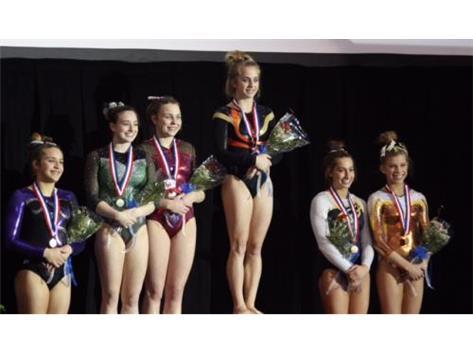 Lyndsey Basara - IHSA State Gymnastics - 5th Place Medalist on Vault