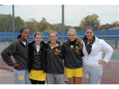 2012 Sectional Tennis Champs-Bri Minor, Maclaine Edwards,Maddie O'Donnel, Megan Sullivan, Emily Rhine