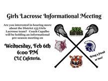 Girls Lacrosse Meeting