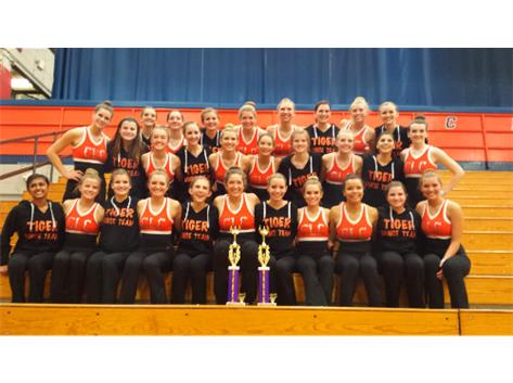 Varsity & JV Dance Team clinch 1st place at the Stagg Invite!!!