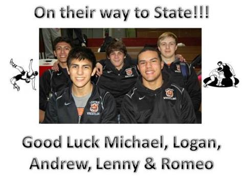 Wrestlers are headed to State! Good Luck Boys!