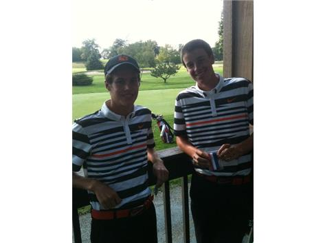 Max Rand and James Perrone finished 7th and 11th at the Huntley invite