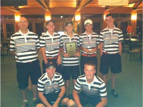 The boy's golf team shot 310 in winning the McHenry invite at Oak Grove Golf Course.