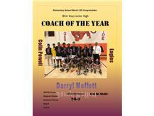 Coach Darryl Moffett IESA Coach Of The Year