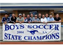 2014 is the 10 Year Anniversary of the DGS Boys Soccer State Championship team. Players & Coaches were recognized during half time.