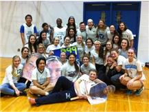 GIRLS SOCCER TEAM SUPPORTING SPECIAL OLYMPIC BB PACK THE PLACE