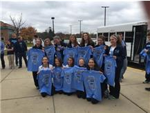SENDING OFF GIRLS XC TO STATE 2015