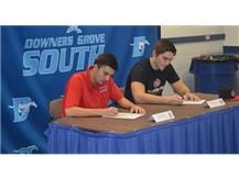 Becht signs to play soccer at UIC and LaCivita signs to play football with St. Cloud State University.