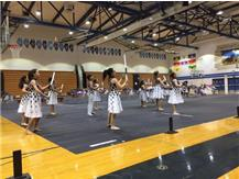 WINTER GUARD PERFORMS AT HALF TIME OF THE GIRLS BB GAME 2017