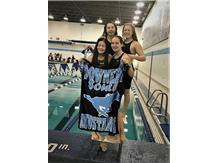 Madison, Mackenzie, Katie and Mary - 1st Place Frosh/Soph 400 Yard Freestyle Relay