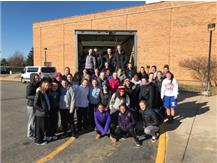 GIRLS BASKETBALL COMMUNITY SERVICE-FILL THE TRUCK LADIES!