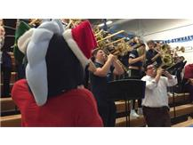 MARTY DIRECTING THE PEP BAND 2017-18