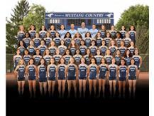 GIRLS CROSS COUNTRY 2020 Team photo was created digitally