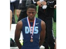 Jalen Lewis takes 5th place in the 300IH at the 2013 IHSA State Meet