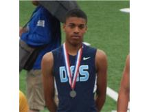 Odell McFarland takes 2nd place in the 200m dash and 4th in the 100m dash at the 2013 IHSA State Meet
