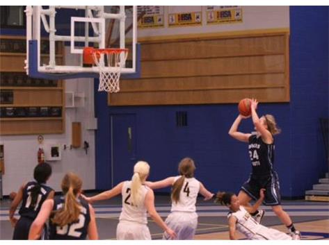 Ava Porlier rolls over Leyden for two