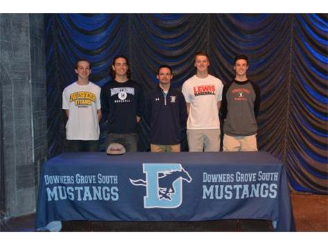 2015 All Signing Day ~  Zach Radde, Joe LaCivita, Coach Orel, Peter Hamot & Danny Kasher